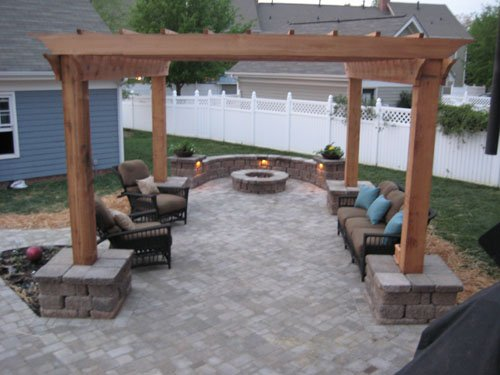 Photo Of Outdoor Living Area, Firepit, Pergola By Eu0026H Hardscape In  Charlotte NC