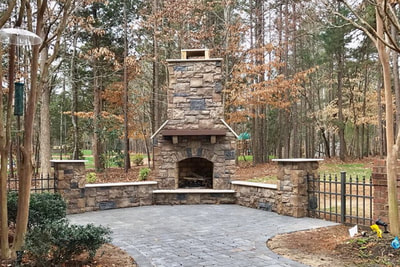 Photo Gallery Outdoor Fireplaces Fire Pits Charlotte Nc Rock